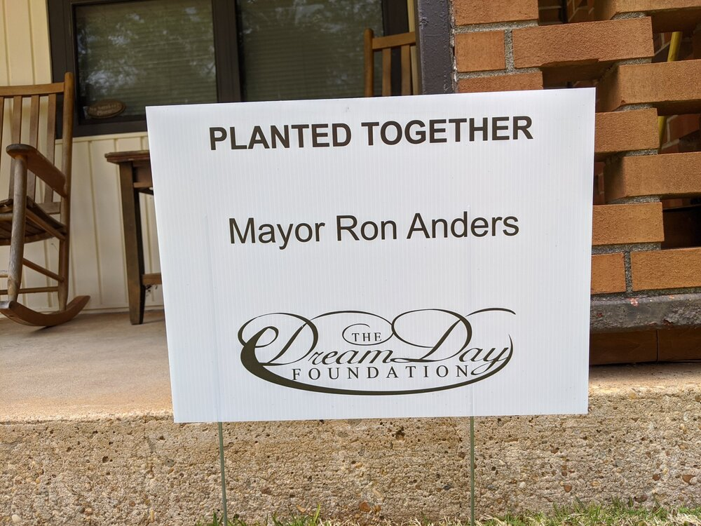 planted together ron anders dream day foundation sign