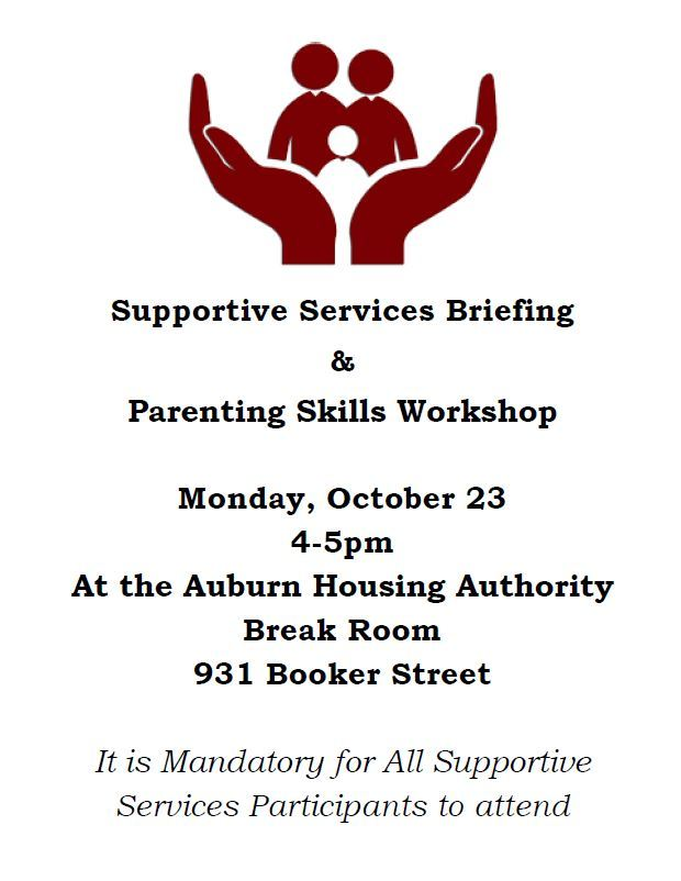 Supportive Sercives briefing and parenting skills workshop