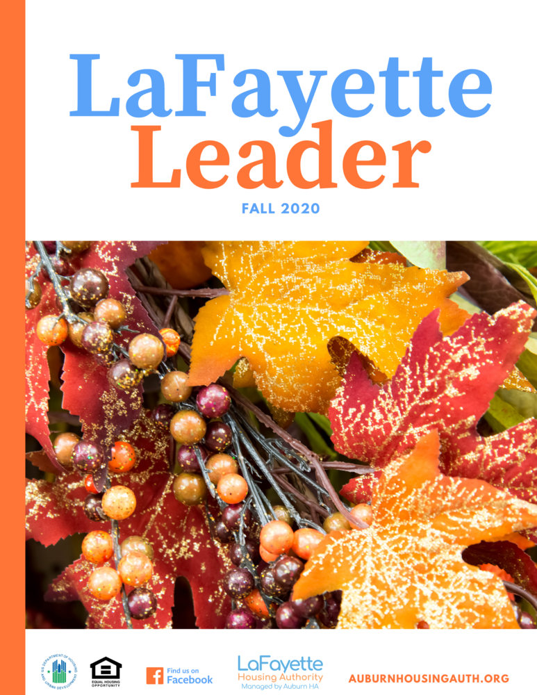 LaFayette Leader Fall 2020 Newsletter Cover