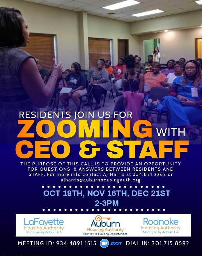 LHA Zooming with the CEO Dates