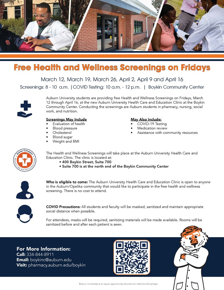 Boykin Flier-2 Health Wellness Screening Fridays