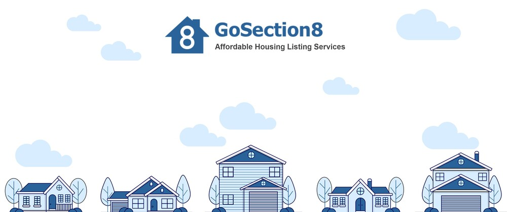 GoSection8 white and blue housing