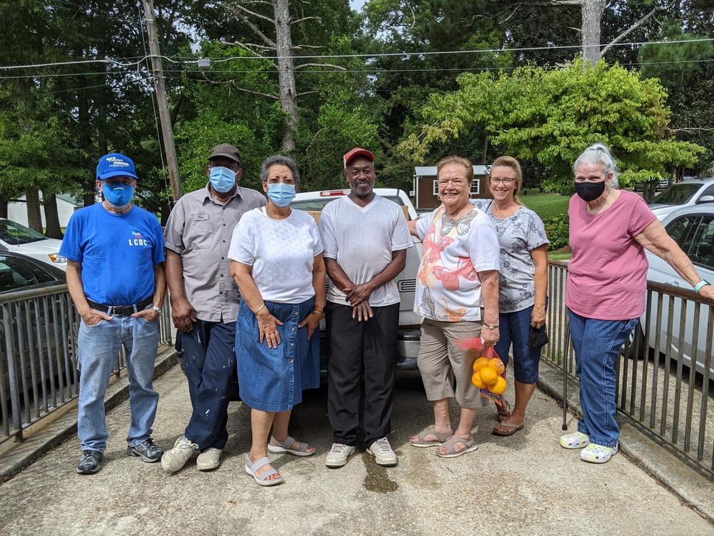 older group of volunteers