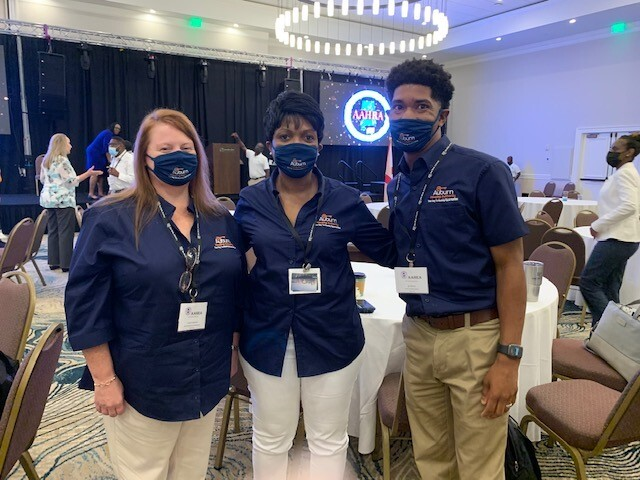 staff at aahra conference