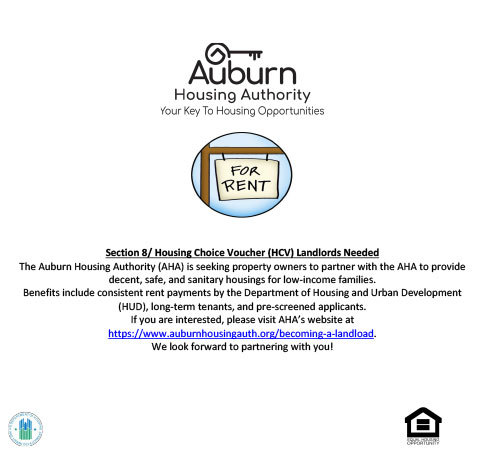 Auburn housing authority landlords needed