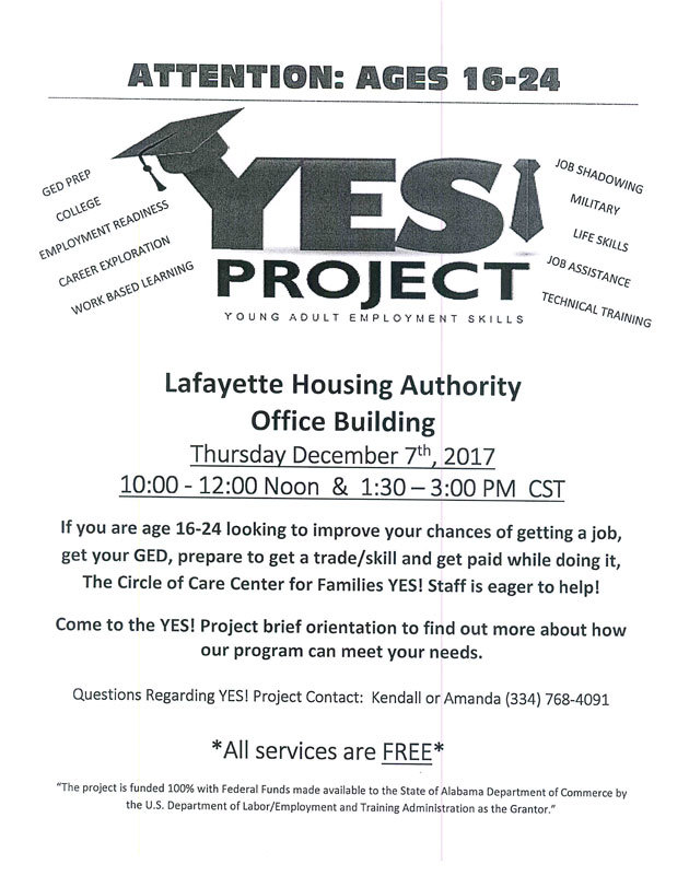 LHA YES project flyer