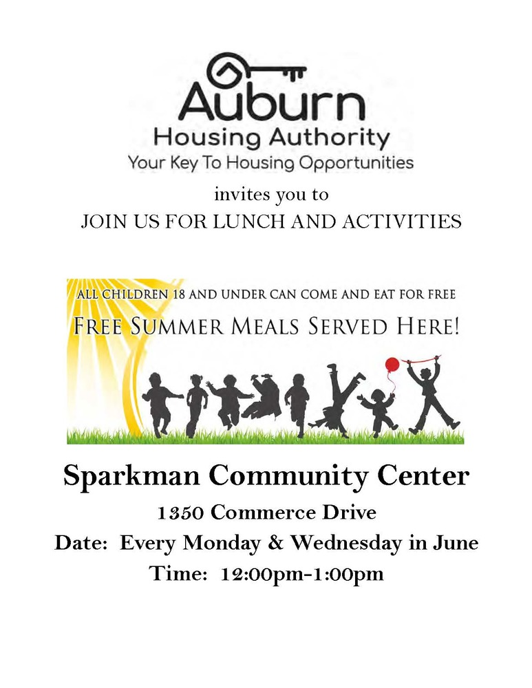 2019 Sparkman June summer feeding program flyer