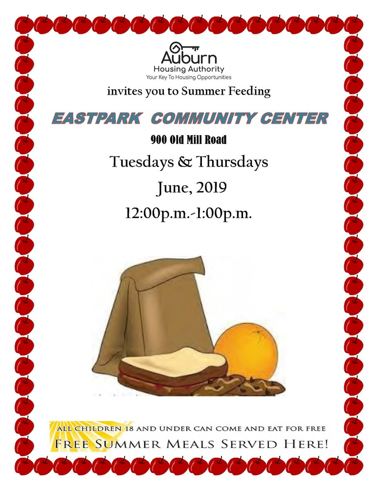 2019, June Summer Feeding flyer for Eastpark