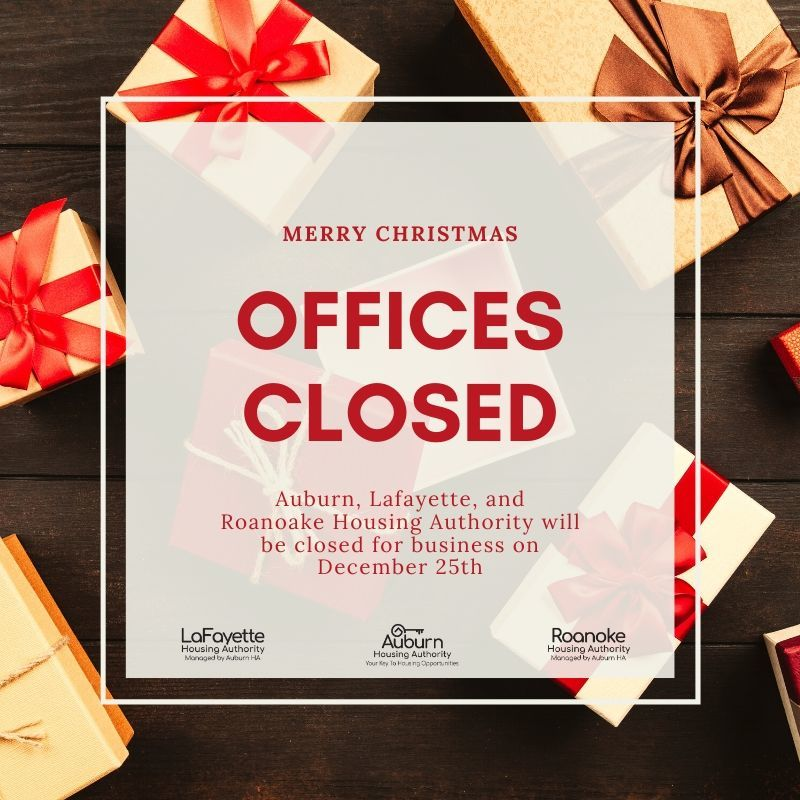 Office Closed Christmas Graphic