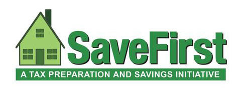 SaveFirst Logo A tax preparation and savings initiative