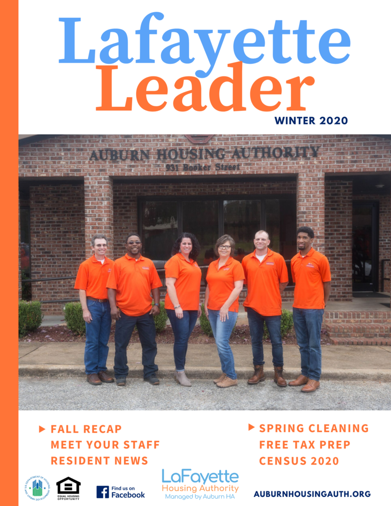 Lafayette Leader Winter 2020 Newsletter Front Page