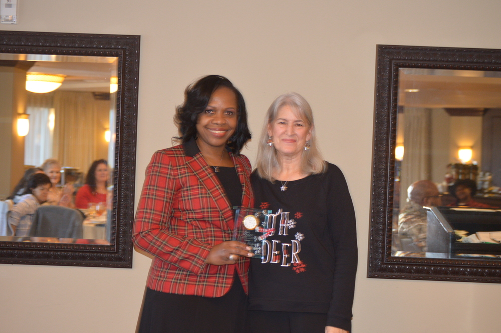 Sandra Sanders 25 years of service recognition in LHA newsletter
