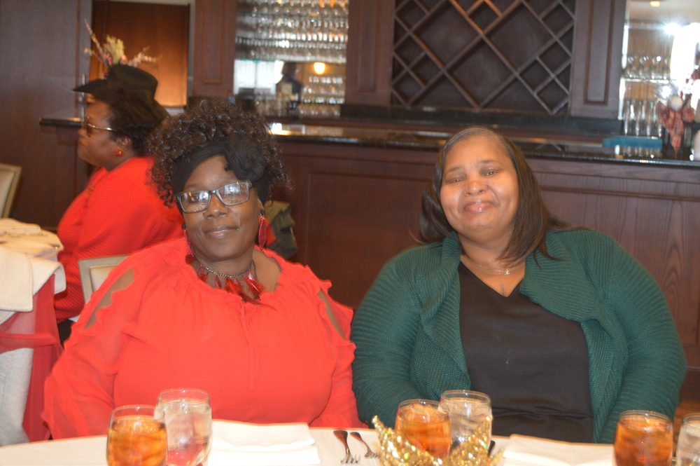 ladies at employee luncheon christmas in lha newsletter