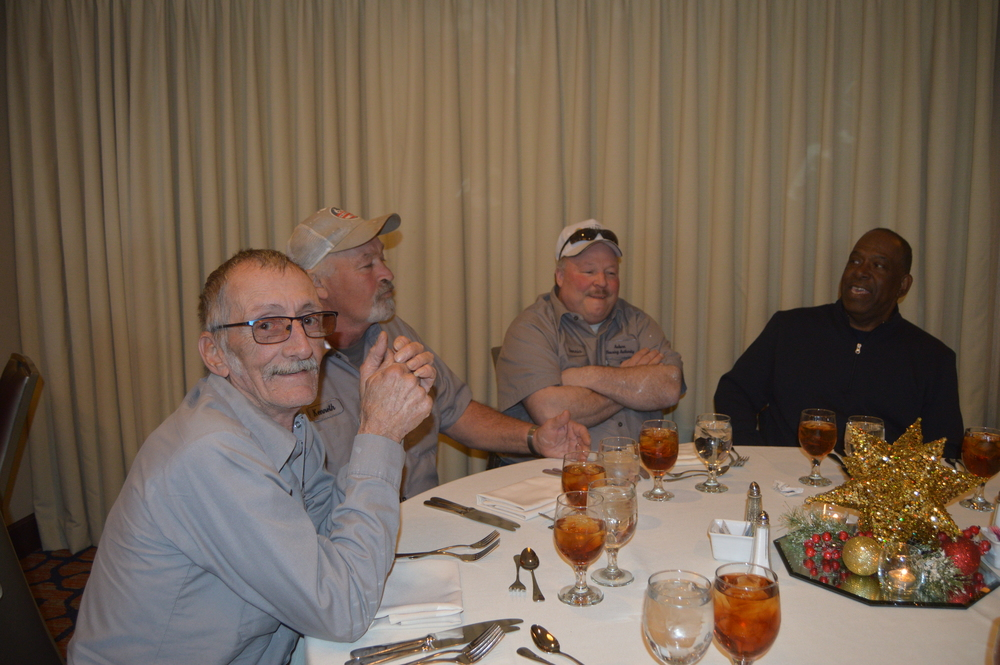 Maintenance staff at christmas luncheon