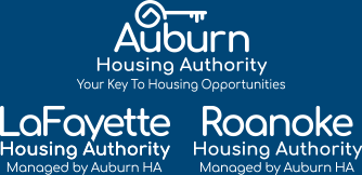 Auburn, LaFayette and Roanoke Housing Authority Logos