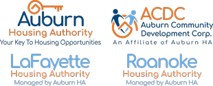 Auburn, LaFayette & Roanoke Housing Authority Laptop Logos