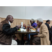 residents eating at luncheon